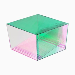 Quadratischer 'Rho Square 35' Couchtisch aus Glas, Sebastian Scherer