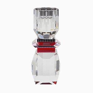 Nevada Kristallglas T-Lampenhalter aus handgemeißeltem zeitgenössischem Kristallglas