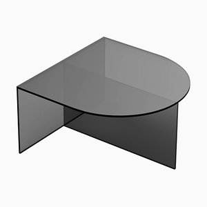 Black Clear Glass ''Fifty Oblong'' Coffee Table, Sebastian Scherer