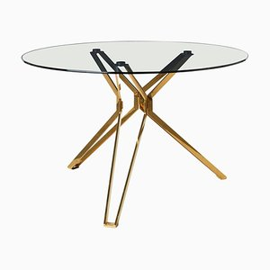 Modern Glass Round Table, Pols Potten Studio
