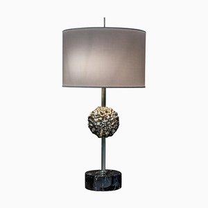 Tischlampe aus Messing & Marmor '&#39