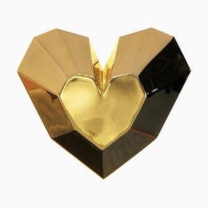 Brass Queen Heart Wall Lamp by Royal Stranger
