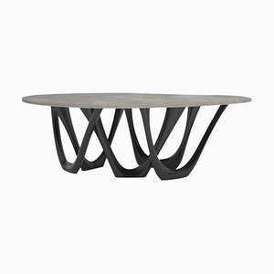 G-Table B and C, Sculptural Table in Coated Steel, Zieta