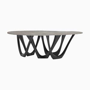 G-Table B und C, Skulpturaler Tisch aus Beschichtetem Stahl, Zieta
