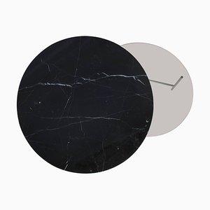 Zorro Couchtisch aus Schwarzem Marmor, Notiz Design Studio