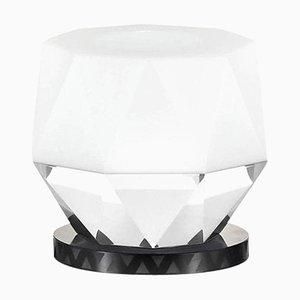 Lámpara con base en forma de T de Kansas Crystal, cristal contemporáneo tallado