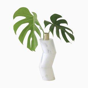 Ginga Vase aus Marmor von Gustavo Dias