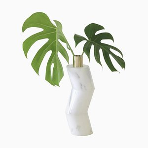 Marble Ginga Vase by Gustavo Dias