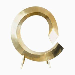 Spiralförmige Tischlampe aus Messing, Räume