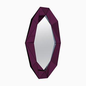 Großer Dekorativer Spiegel mit Rahmen in Burgunderrot