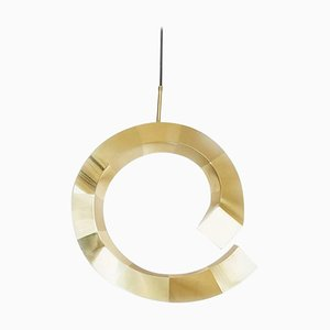 Brass Spiral Pendant Lamp, Rooms