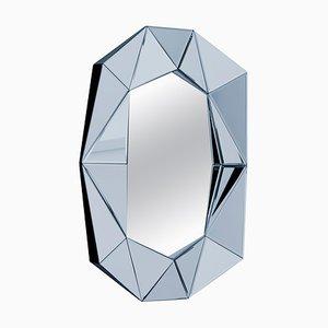 Blassblauer dekorativer Spiegel