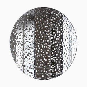 Kleiner handgemalter Regenspiegel von Laurene Guarneri
