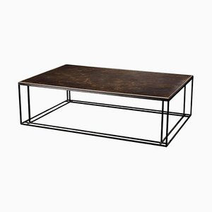 Brass and Steel Handcrafted Coffee Table and Signed by Novocastrian