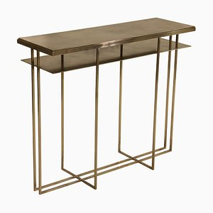 Brass Handcrafted Console Signed by Novocastrian
