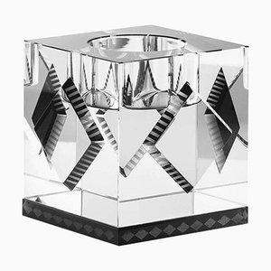 Lámpara en forma de T de Cleveland, cristal contemporáneo tallado a mano