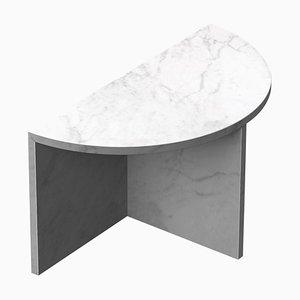 Tavolino da caffè in marmo di Carrara '' Fifty '', Sebastian Scherer