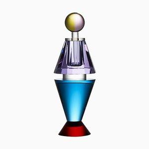 Bunter Duft-Flakon aus Kristallglas, von Hand gemalter zeitgenössischer Kristall