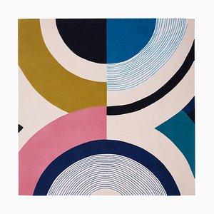 Tapis Contemporain Coloré Inspiré par Seoul's Aesthetic