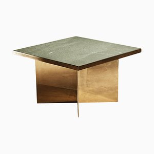 Green Slate Handcrafted Coffee Table Signed by Novocastrian