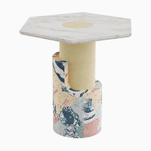 Sculpted Contemporary Marble Side Table by Dooq