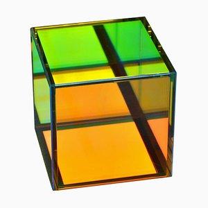 Lampe de Bureau Cube en Verre Coloré par Camilla Richter