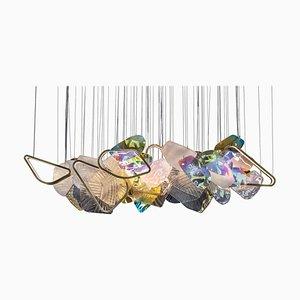 Bunte Monumentalglas Lichtinstallation, von Vera Dieckmann
