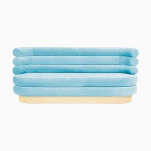 Canapé Bleu Ciel en Guimauve '&#39