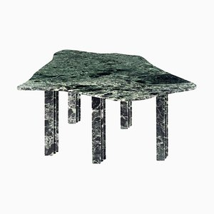 Sculptural Green Dining Marble Table by Lorenzo Bini