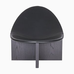 Nido Black in Black Oak Lounge Chair by Estudio Persona