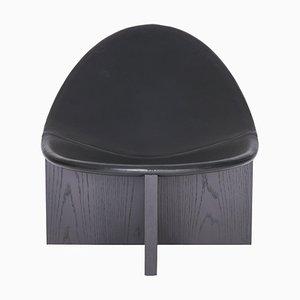 Schwarzer Nido Lounge Chair aus Eiche von Estudio Persona