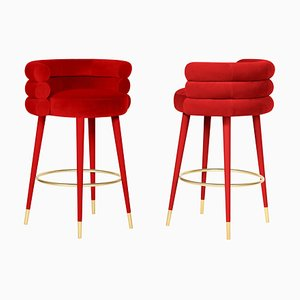 Tabouret de Bar Marshmallow Rouge, Royal Stranger