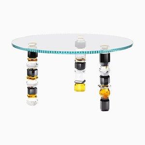 Handskulpturierter Moderner Tisch aus Kristallglas