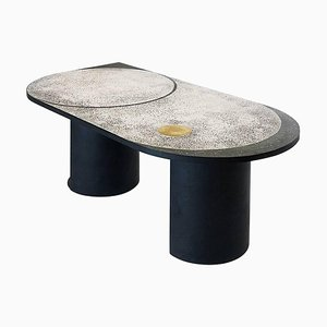 Mosaic Geometric Brass Table, Rooms