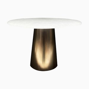 Kinoko Brass and Glass Side Table, Signed by Stefan Leo