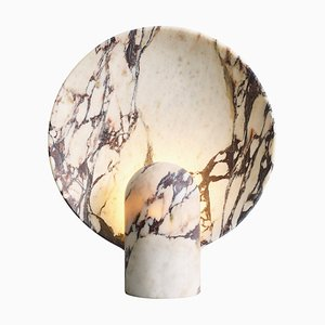 Sculpted Calacatta Viola Marble Lamp by Henry Wilson
