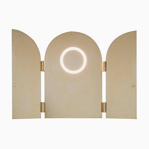Brass Triptychs Enlighted Mirror, Jesse Visser
