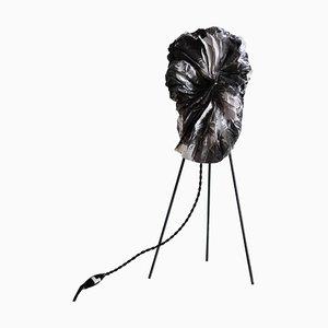 Lampe de Bureau Sculpturale en Fumé par Camille Deram