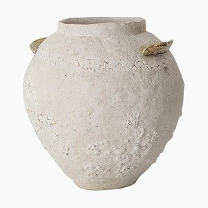 ''Isolated'' Brass and Glaze Stoneware Vase, Raquel Vidal and Pedro Paz