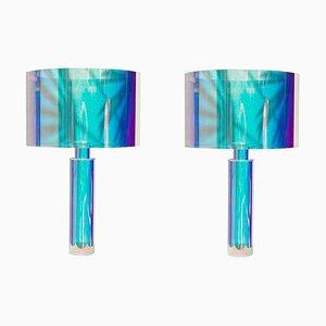 Paar Kinetic Colors Tischlampen von Brajak Vitberg