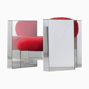 Invisible Spiegelglas Sessel, Räume