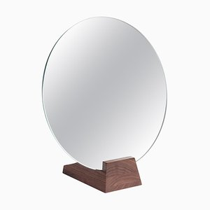 Natural Varnished Walnut ''Lalou'' Mirror, Jacques Emile Rulhmann