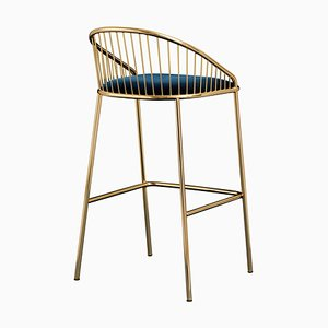Agora Gold and Black Bar Stool by Pepe Albargues