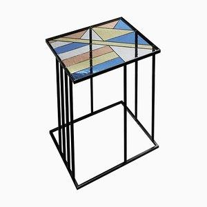 Tavolino da caffè in vetro colorato, Santissimi I, Serena Confalonieri