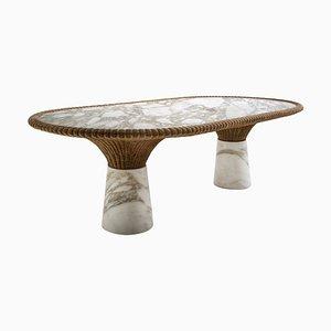 Table de Salle à Manger Amazonas en Marbre Sculpté, Giorgio Bonaguro
