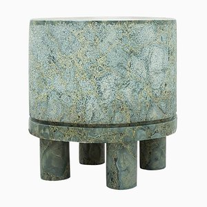 Diabase Volcanic Rock Side Table, Unique Hand-Sculpted, Rooms