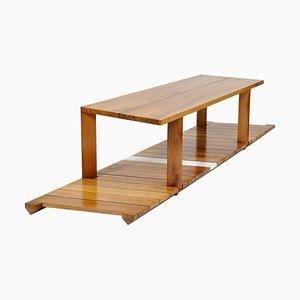 Table Basse Sculptée, Slide, Signée par Kaaron