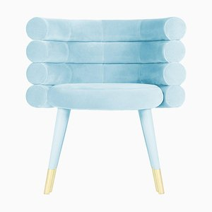 Sky Blue Marshmallow Dining Chair, Royal Stranger