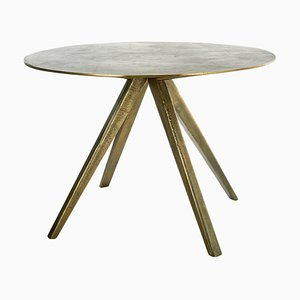 Antique Brass Plated Circle Table, Pols Potten Studio