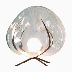 Crystal Glass Standing Light 'Exhale' by Catie Newell